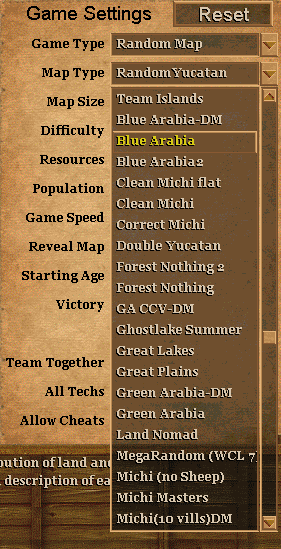List In Game