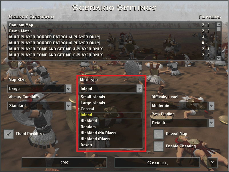 new map type settings