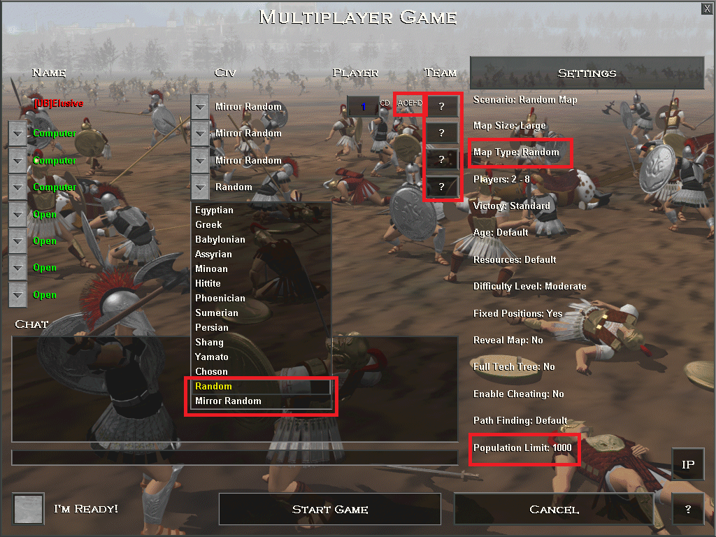 New options in AoE HD